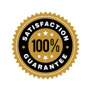 100% satisfaction badge