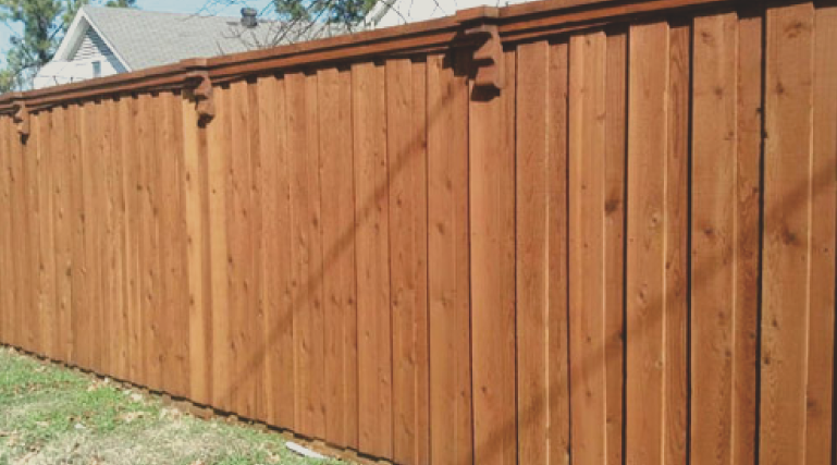 Wood fencing is very popular and traditional style of fence. The wood look is very inviting and can bring a warm feeling to any property. Wood is very customizable, with different paint, and stain, and many different styles that can be chosen.